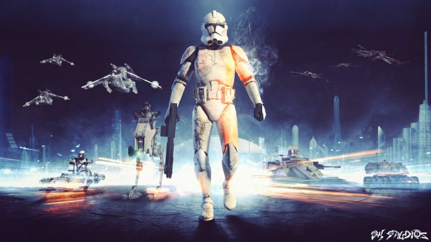 STAR WARS BATTLEFRONT sci-fi action fighting shooter fps tps 1swbattlefront wallpaper