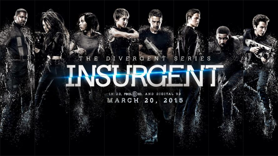 INSURGENT action adventure sci-fi fantasy series 1insurgent divergent weapon gun poster wallpaper