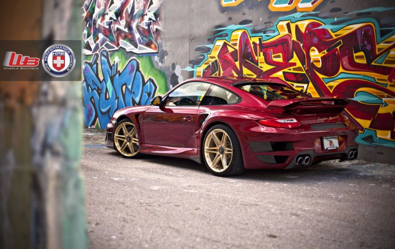 Porsche 997 Turbo S Edition 918 Spyder coupe hre wheels tuning cars wallpaper