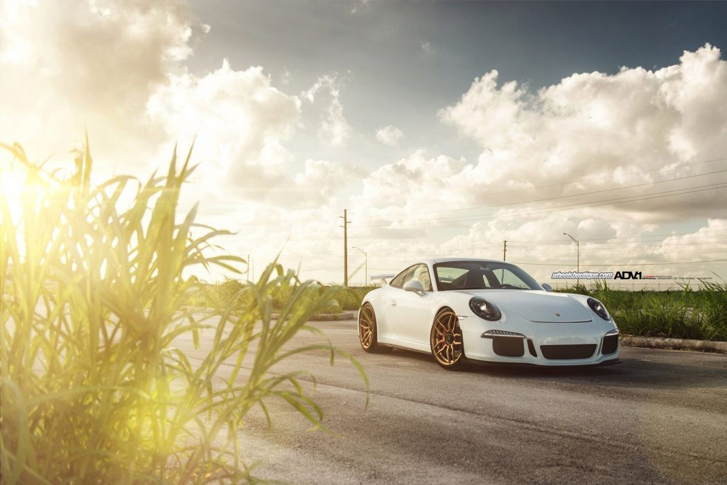Porsche 991 GT3 coupe adv1 wheels tuning cars wallpaper