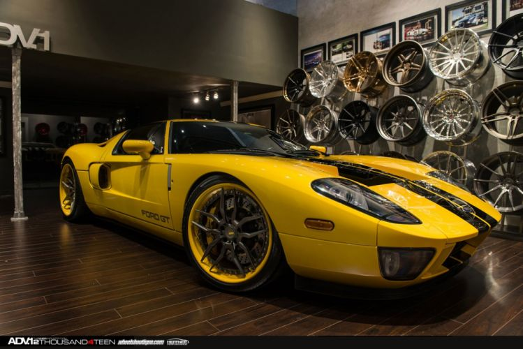 ADV1 cars Coupe Ford gt 40 Tuning wheels cars wallpaper