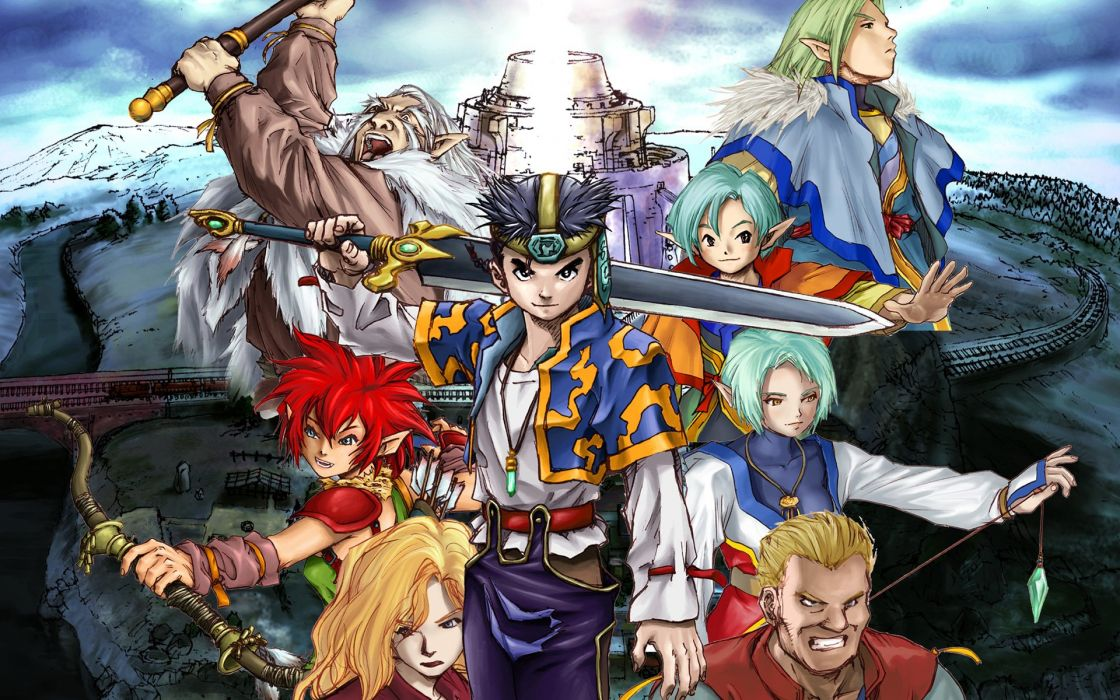 Grandia Rpg Fantasy Anime Adventure Family Mystery 1grandia