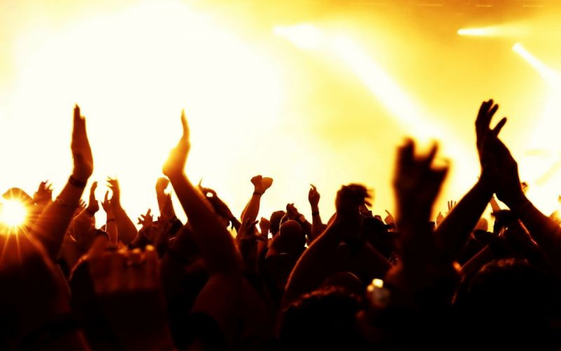 mood happy music group peoples yellow light hand concert wallpaper