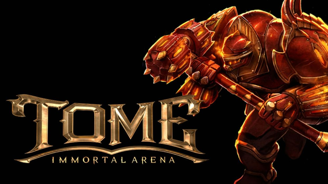 TOME Immortal Arena moba online mmo fantasy fighting 1tomeia warrior poster wallpaper