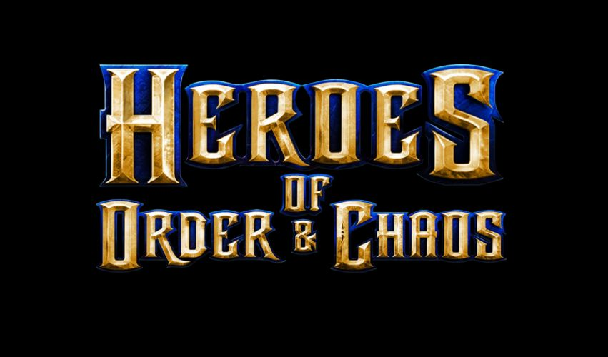 HEROES ORDER CHAOS fantasy fighting action adventure mmo online 1heroeschaos rpg poster wallpaper