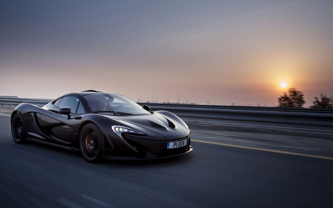 2014 McLaren p 1 Supercar cars black wallpaper