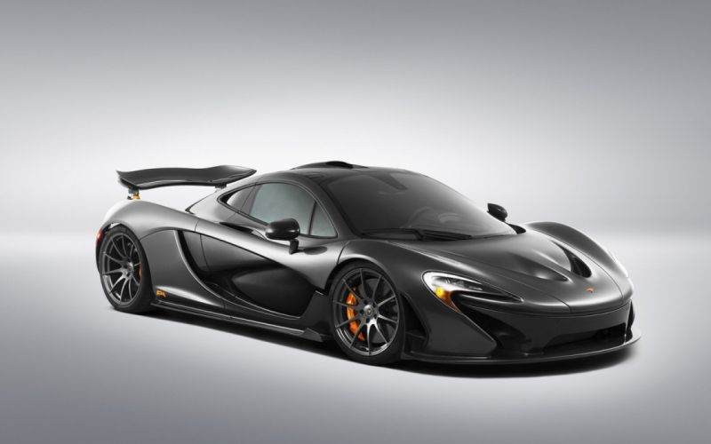 2014 McLaren p 1 Supercar cars black wallpaper
