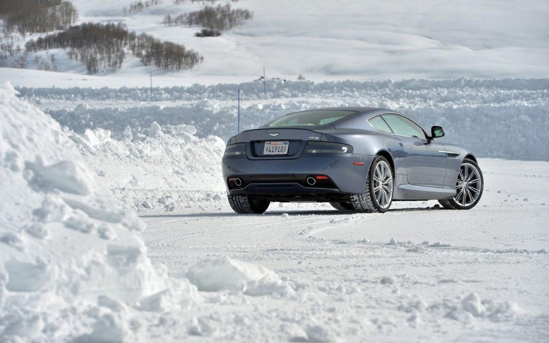 2014 Aston Martin Ice cars coupe DB 9 wallpaper