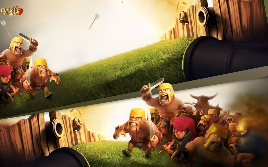 CLASH OF CLANS fantasy fighting family action adventure strategy 1clashclans warrior wallpaper