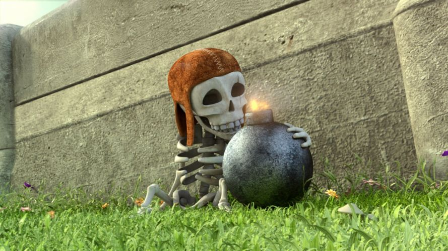 CLASH OF CLANS fantasy fighting family action adventure strategy 1clashclans warrior skull skeleton wallpaper