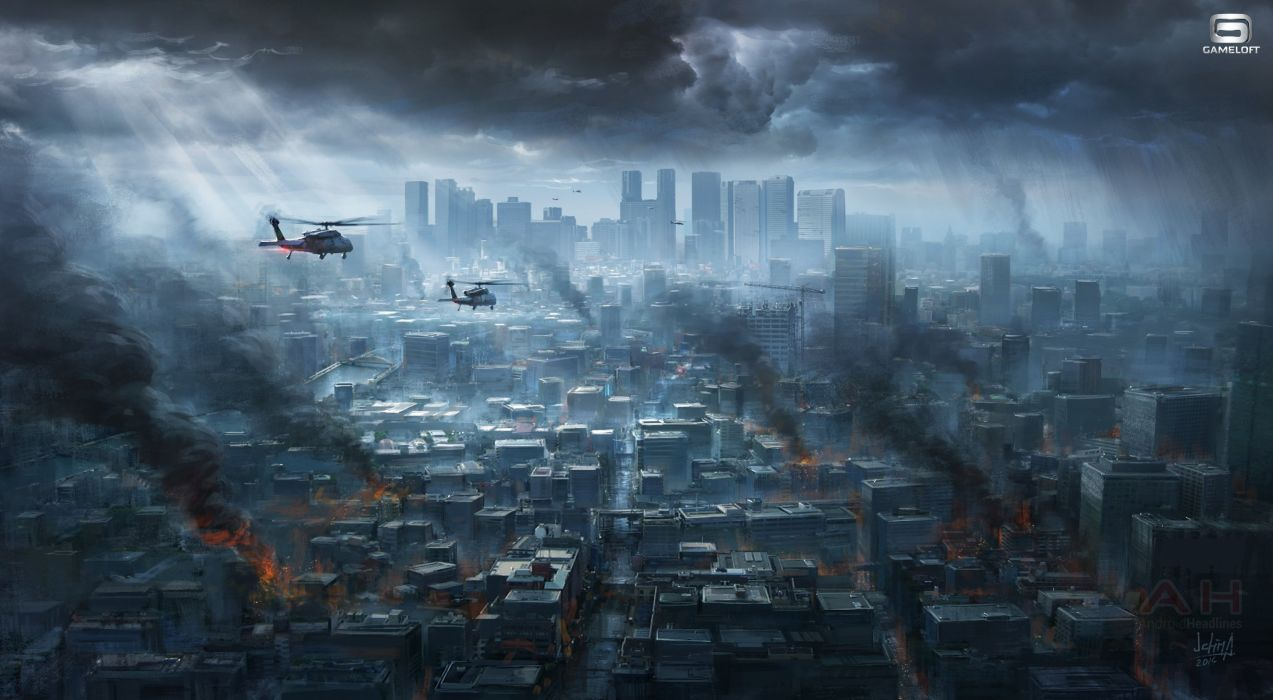 MODERN COMBAT shooter military fighting fps 1moderncombat helicopter city cities war wallpaper