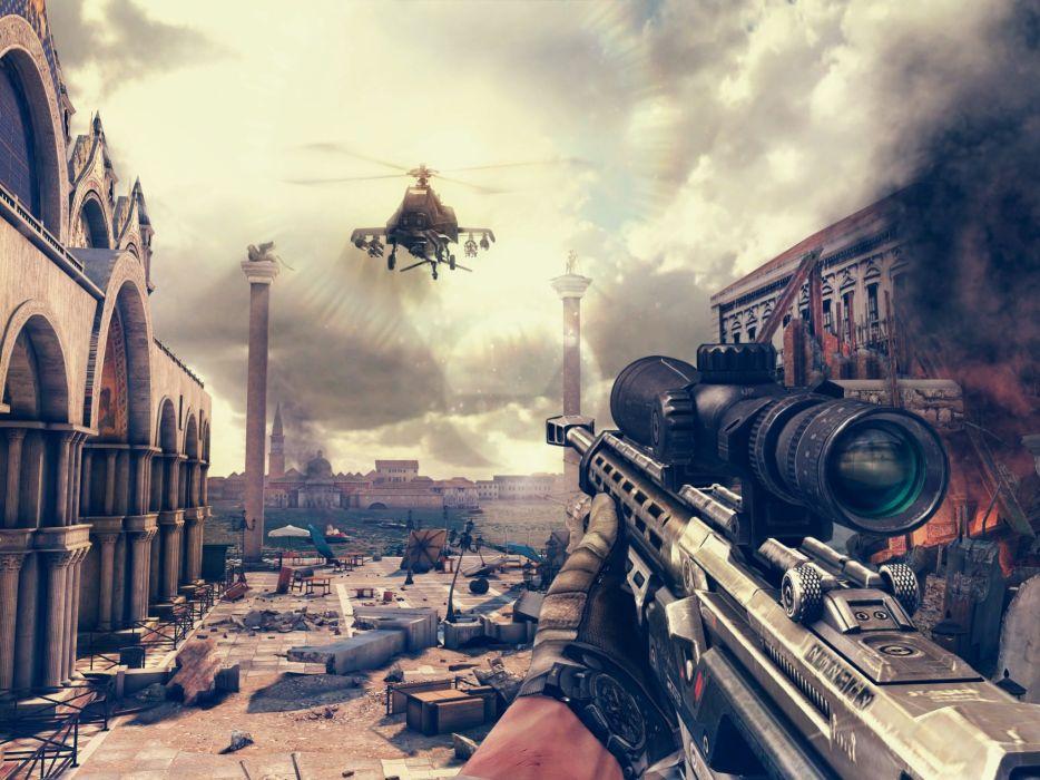 MODERN COMBAT shooter military fighting fps 1moderncombat warrior weapon gun helicopter war wallpaper