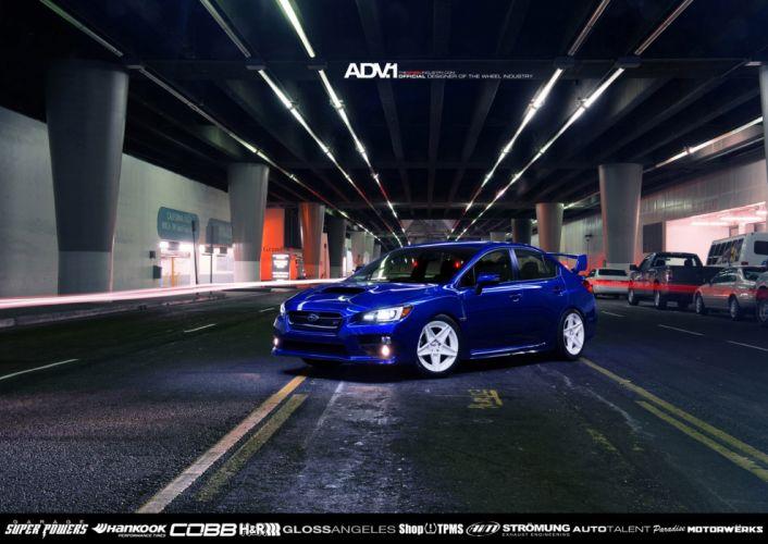 2014 ADV1 wheels SUBARU WRX STI cars tuning cars wallpaper