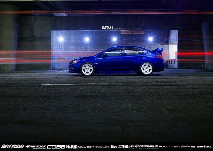 2014 ADV1 wheels SUBARU WRX STI cars tuning cars wallpaper