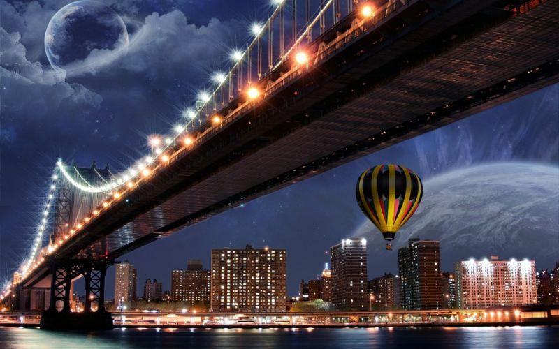 3D-graphics Under the bridge wallpaper