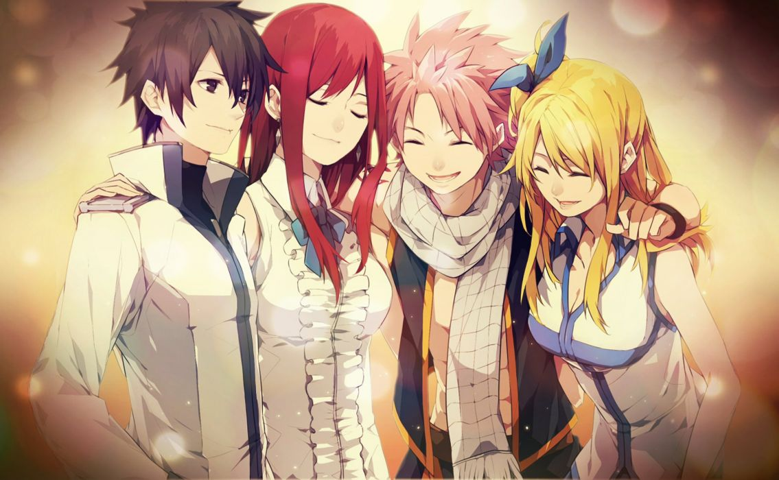 Anime Tale of Fairy Tail group girl boy friend series wallpaper