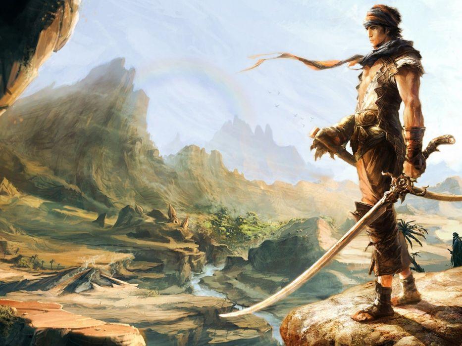 Fantasy Warrior with a sword  wallpaper