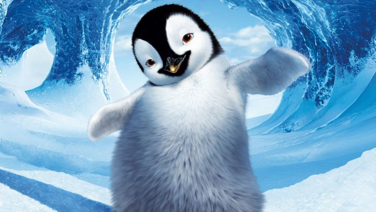 Penguin in the snow movie wallpaper