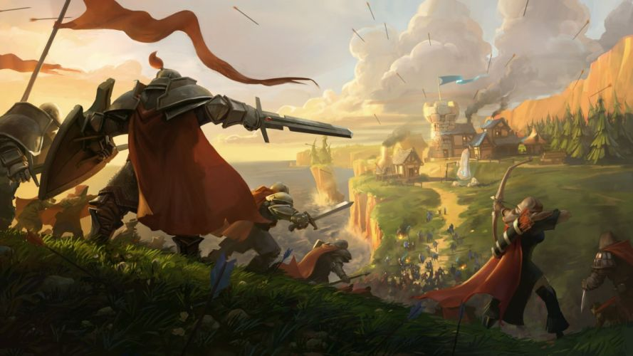 ALBION ONLINE medieval sandbox mmo rpg fantasy fighting action 1albion warrior castle battle wallpaper