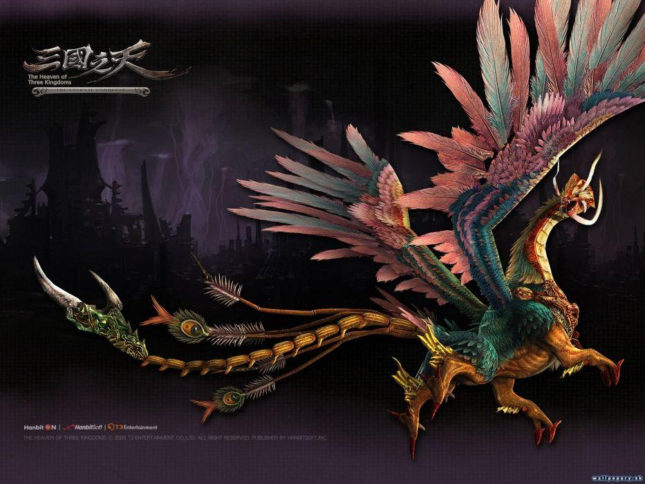 HEAVEN OF THREE KINGDOMS online fantasy fighting 1threekingdoms rpg mmo warrior action poster wallpaper