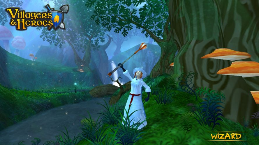 VILLAGERS AND HEROES mmo rpg fantasy action adventure 1villagers sandbox wallpaper