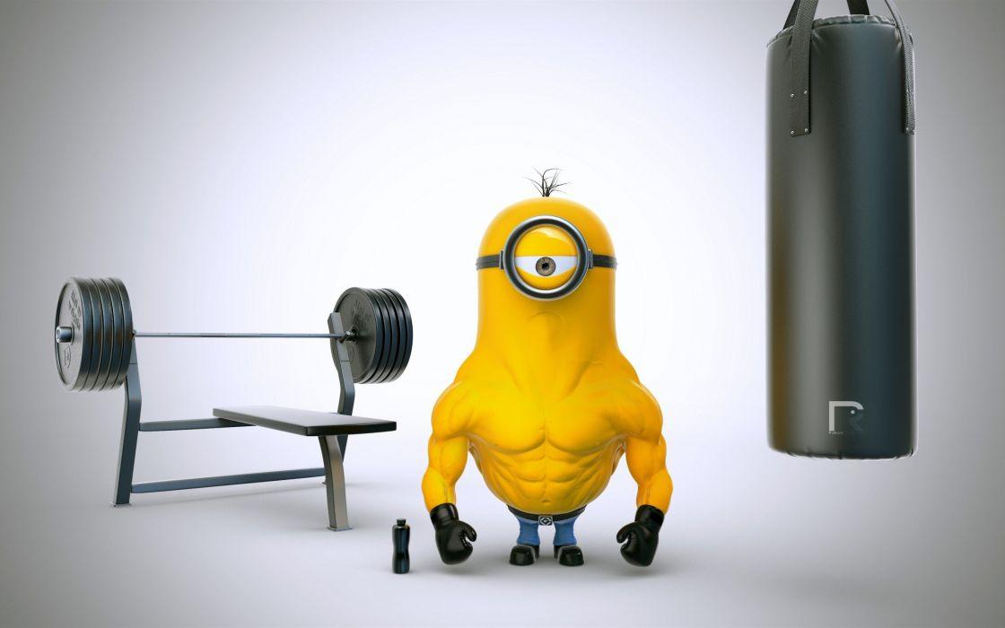 Minions Gym wallpaper