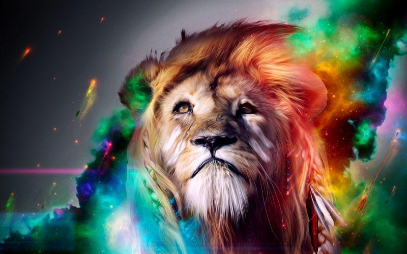 Artistic Lion wallpaper