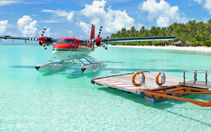 Water ocean landscapes nature beach aircraft tropical sea wallpaper