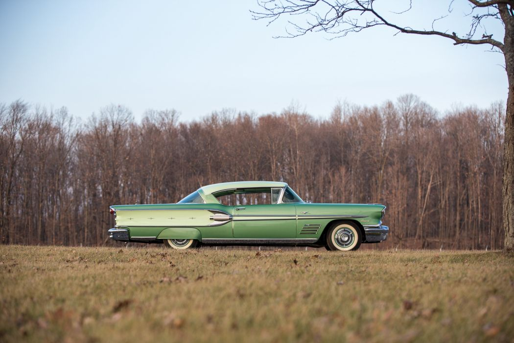 1958 Pontiac Bonneville Custom Tri-Power Sport Coupe 2547SD retro luxury wallpaper