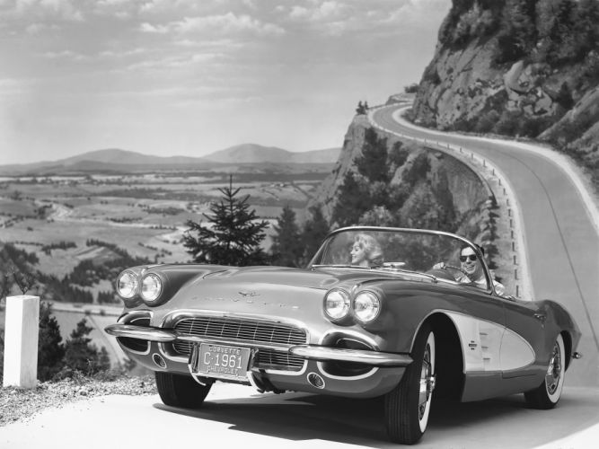 1961 Chevrolet Corvette C-1 muscle classic supercar wallpaper