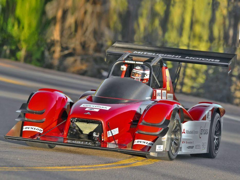 2014 Mitsubishi MiEV Evolution III Pikes peak race racing electric wallpaper