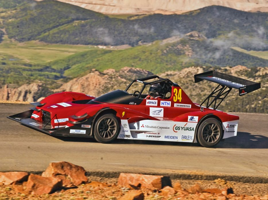 2017 Mitsubishi Miev Evolution Iii Pikes Peak Race Racing Electric Wallpaper