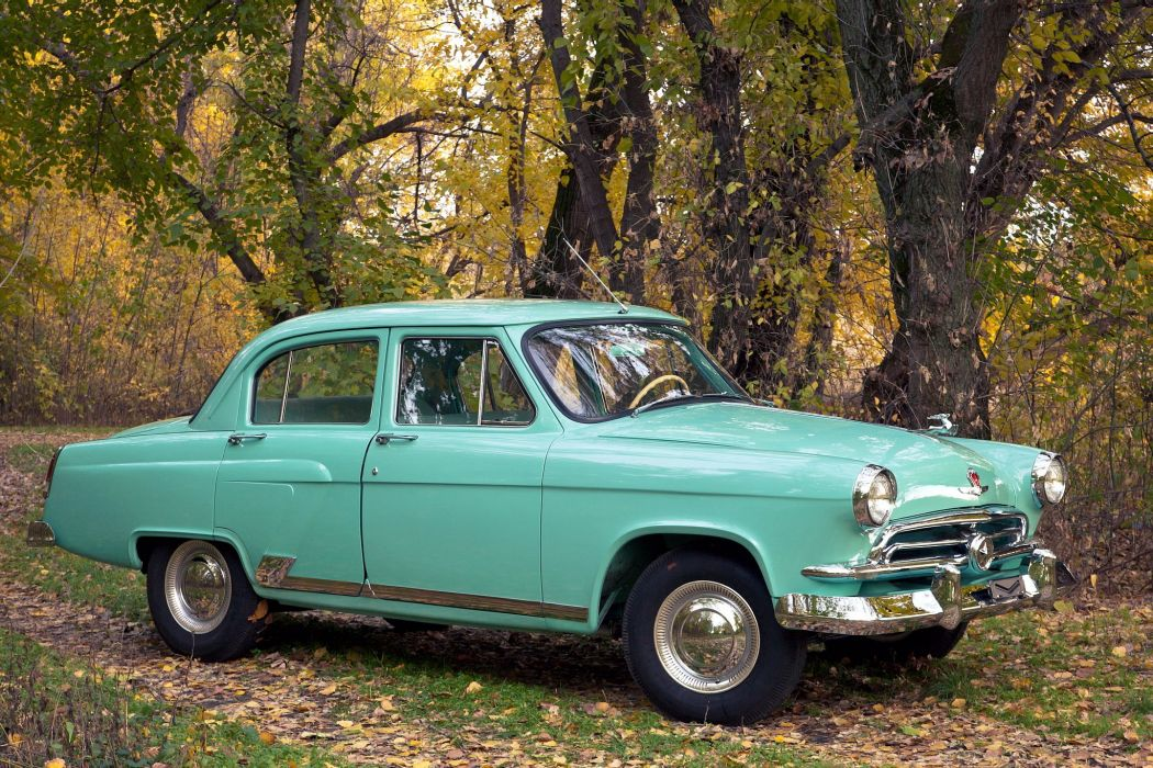 1956 GAZ M21 Volga retro wallpaper
