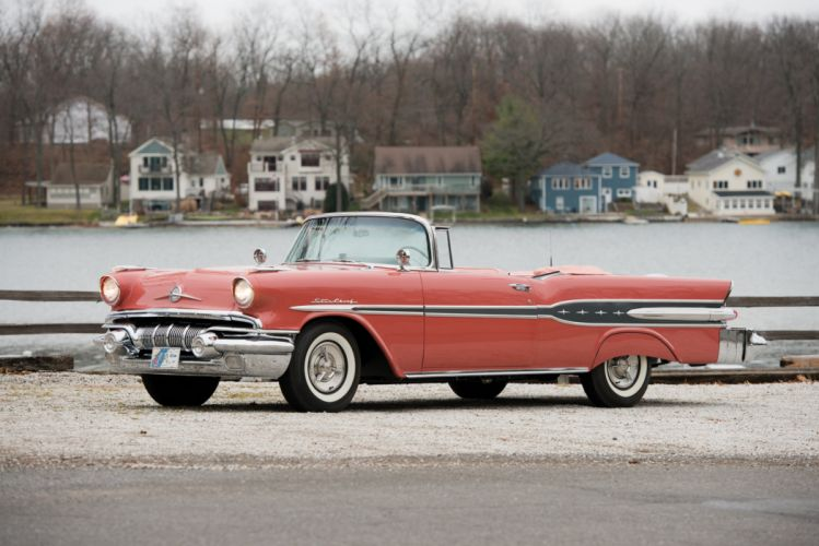 1957 Pontiac Star Chief Convertible 2867DTX retro luxury wallpaper