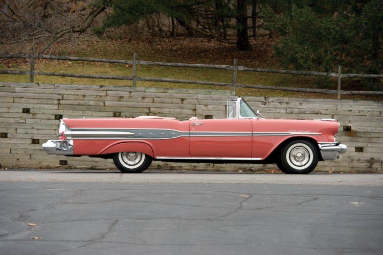 1957 Pontiac Star Chief Convertible 2867DTX retro luxury wallpaper