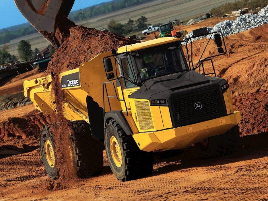 Deere ADT 460E dump construction dumptruck semi tractor 6x6 wallpaper