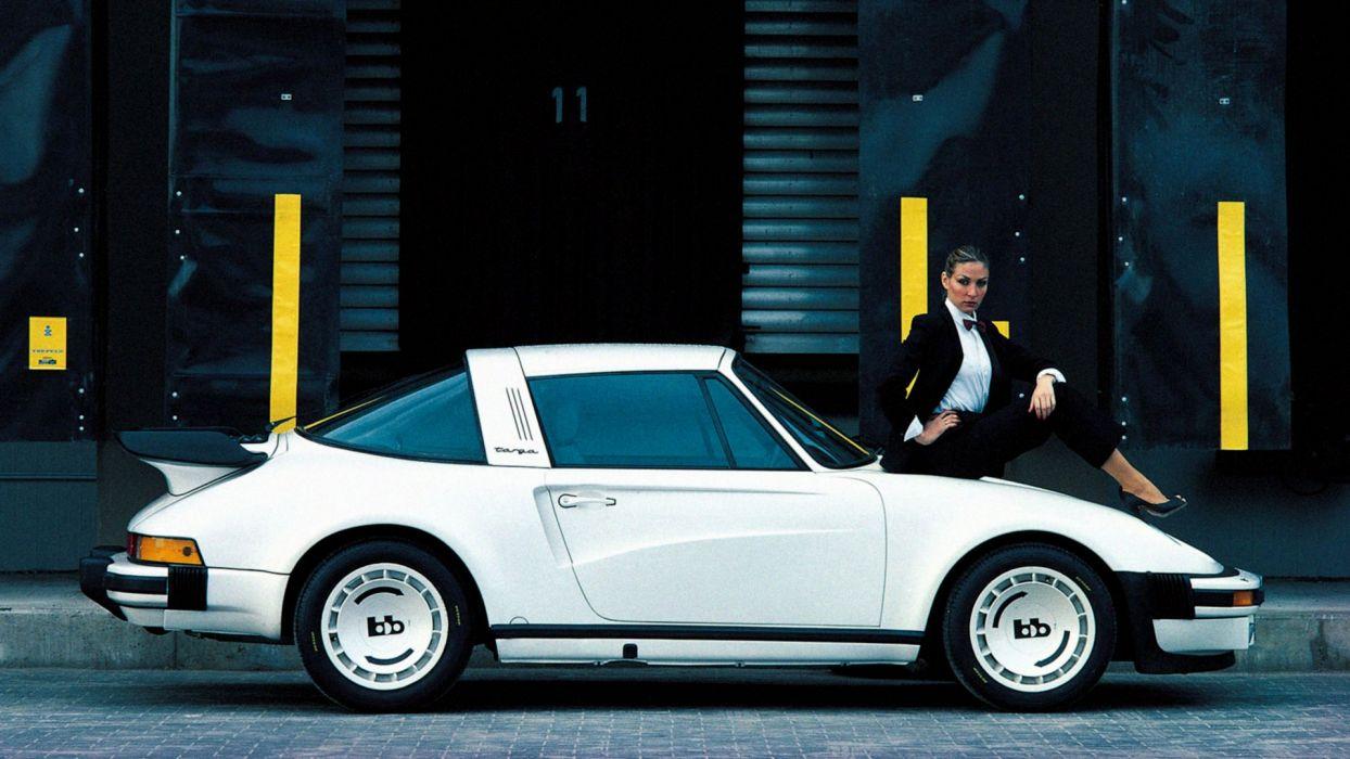 BB Porsche Turbo Targa White 911 supercar wallpaper