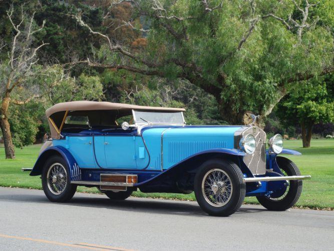1927 Isotta Fraschini Tipo model-8A S-S Dual Cowl Phaeton LeBaron tipo luxury retro wallpaper