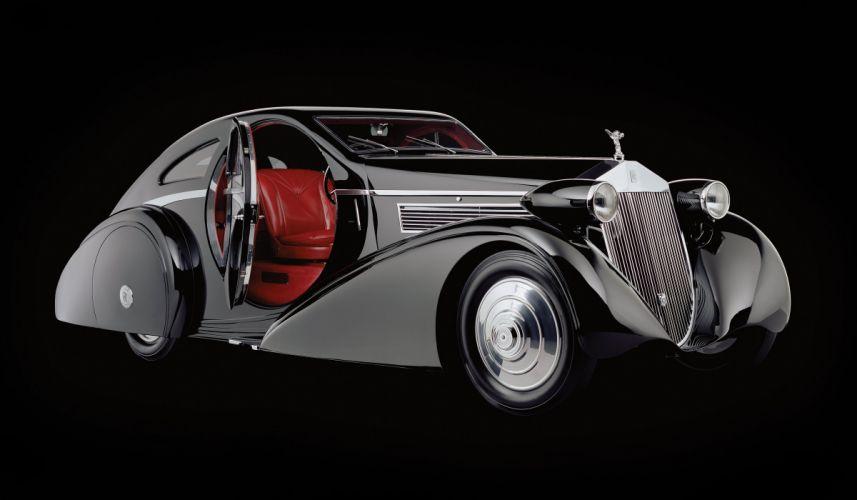 1934 Rolls Royce Phantom I Jonckheere Coupe luxury retro wallpaper