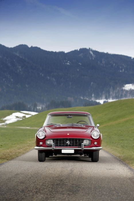 1958 Ferrari 250 G-T Coupe 0947GT retro supercar wallpaper