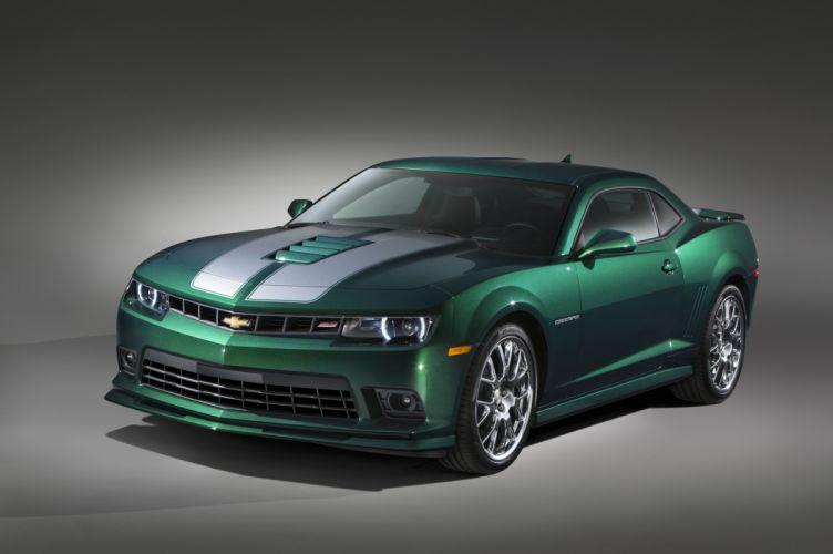 2015 Chevrolet Camaro S-S Green-Flash muscle tuning wallpaper