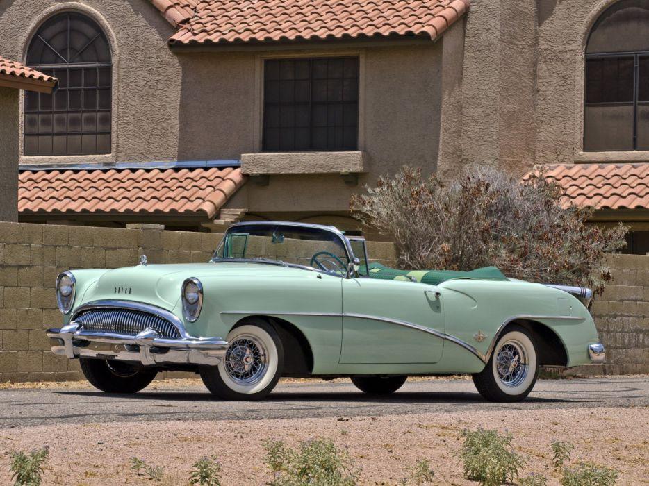 1954 Buick Skylark Convertible 100-4767X retro wallpaper
