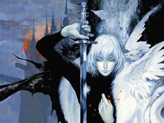 Video Game - Castlevania wings Summoning the Past sword wallpaper