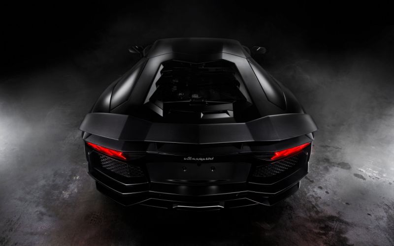 Lamborghini Aventador Matte Black wallpaper