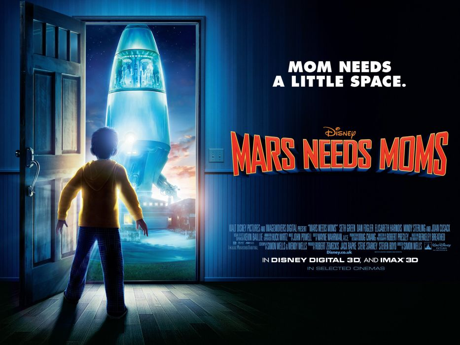MARS NEEDS MOMS disney sci-fi adventure family action animation martian alien 1needsmom wallpaper