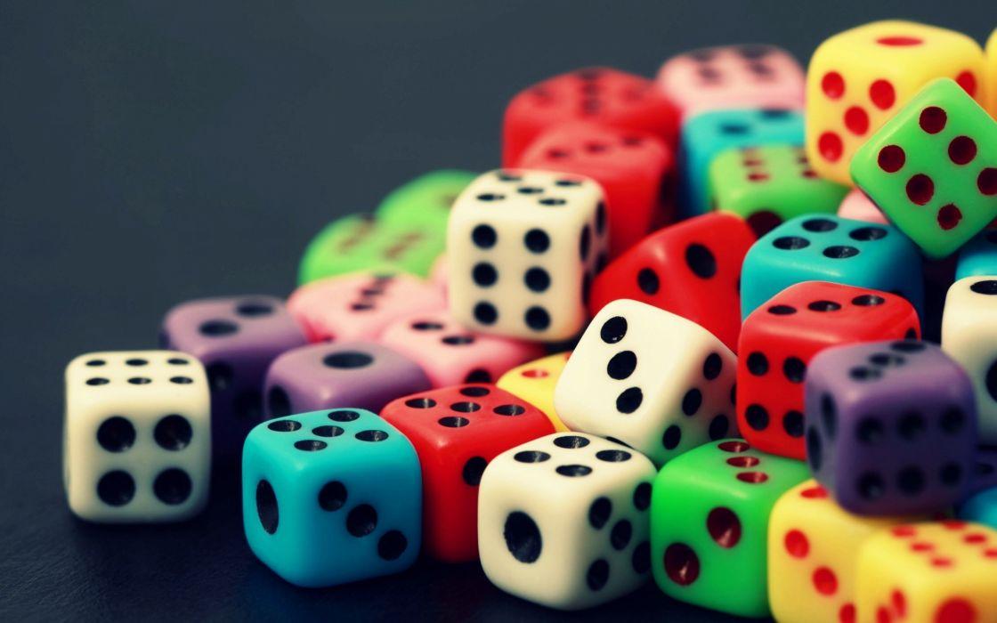 colorful closeup dice cubes simple wallpaper
