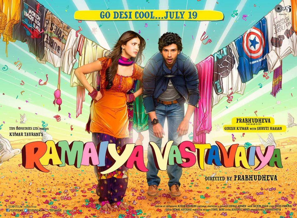 RAMAIYA VASTAVAIYA bollywood romance comedy family 1vastavaiya wallpaper