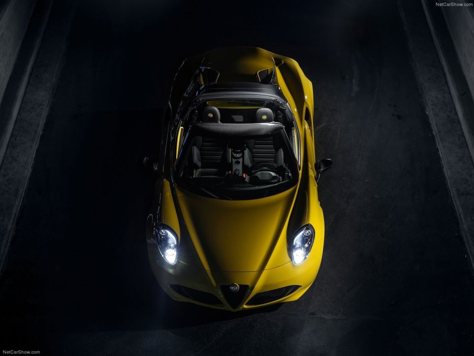 Alfa Romeo 4C Spider 2015 cars italia yellow wallpaper