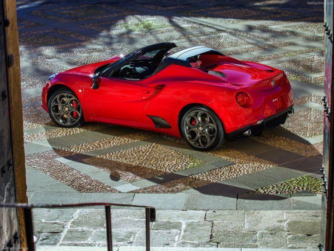Alfa Romeo 4C Spider 2015 cars italia red wallpaper