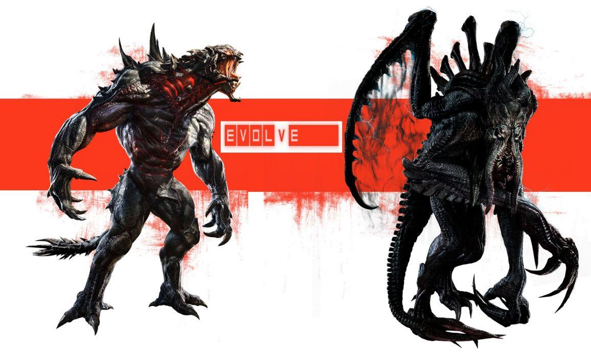 Evolve Goliath and Kraken wallpaper